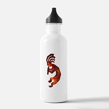 Fire Red Kokopelli Water Bottle
