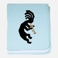 Kokopelli Trumpet baby blanket