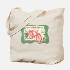 Funny Vintage bicycling Tote Bag