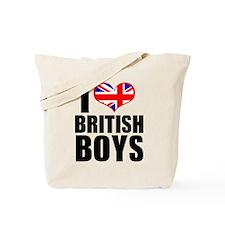 I Heart British Boys Tote Bag