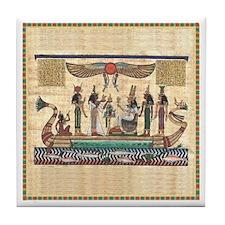Egyptian Boat -Tile Coaster