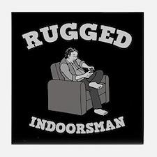 Rugged Indoorsman Tile Coaster