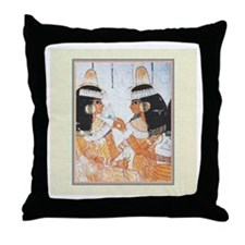 Egyptian Sisters -Throw Pillow