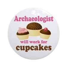 Funny Archaeologist Ornament (Round)