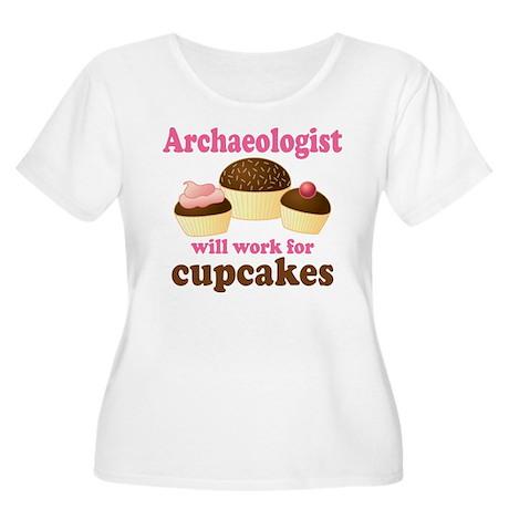Funny Archaeologist Women's Plus Size Scoop Neck T
