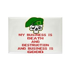 My Business Is Death Rectangle Magnet