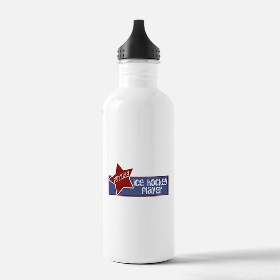 Future Ice Hockey Player Water Bottle