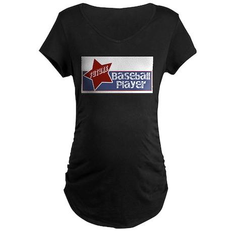 Future Baseball Player Maternity Dark T-Shirt