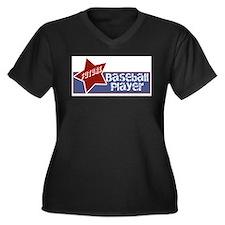 Future Baseball Player Women's Plus Size V-Neck Da