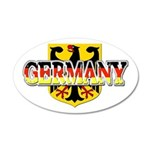 Germany Coat of Arms 22x14 Oval Wall Peel
