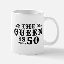 The Queen is 50 Mug
