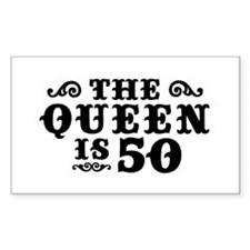 The Queen is 50 Decal