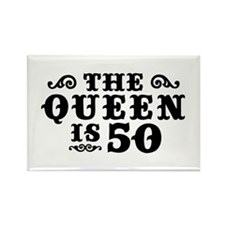The Queen is 50 Rectangle Magnet