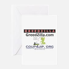 Greedzilla Whip Greeting Card
