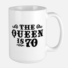 The Queen is 70 Mug