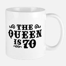 The Queen is 70 Small Small Mug