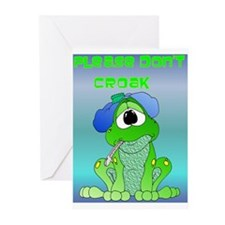 Don't Croak / Get Well Humor Greeting Cards (Pk of