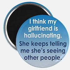 Hallucinating Girlfriend Magnet