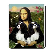 Mona & her 2 Tri Color CKC Mousepad