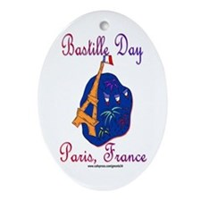 Bastille Day! Oval Ornament