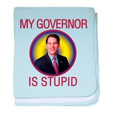 Stupid Governor baby blanket