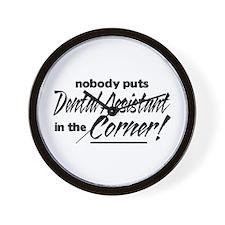 Dental Asst Nobody Corner Wall Clock