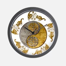 Harvest Moons Bats Yin Yang Wall Clock