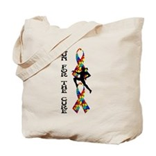 Autism Run For A Cure Tote Bag