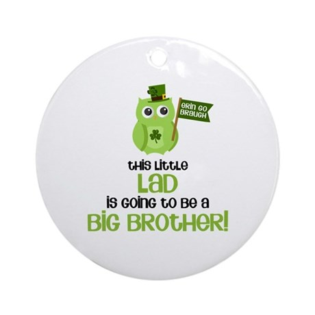 This Little Lad Big Brother Ornament (Round)