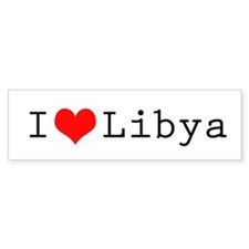 I (lheart) Libya Bumper Sticker