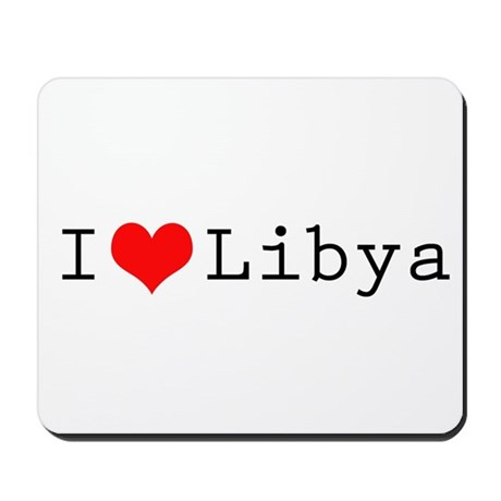 I (lheart) Libya Mousepad