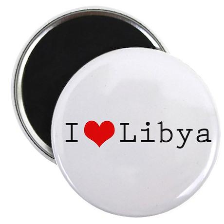 I (lheart) Libya Magnet