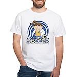 Girls Soccer White T-Shirt