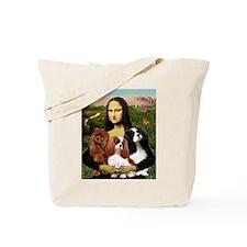 Mona & her 3 Cavaliers Tote Bag