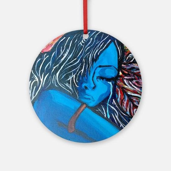 Blue Choctaw Round Ornament