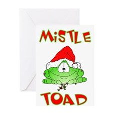 Mistle Toad Card Greeting Card