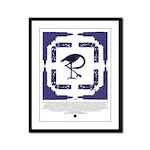 The Celtic Crane Framed Panel Print