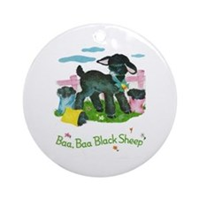 Baa Baa Blacksheep Ornament (Round)