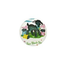 Cute Baa baa black sheep Mini Button