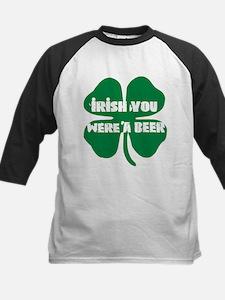 Irish You Were A Beer Kids Baseball Jersey