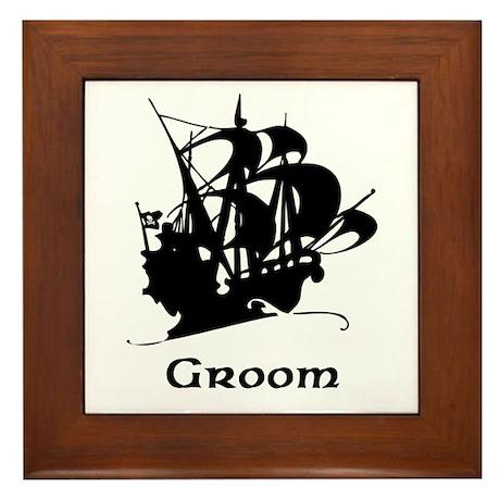 Groom Pirate Ship Framed Tile