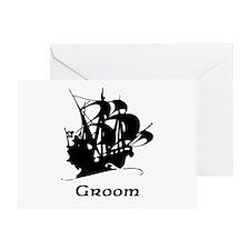 Groom Pirate Ship Greeting Card