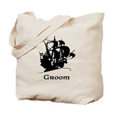 Groom Pirate Ship Tote Bag