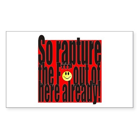 Rapture Sticker (Rectangle)