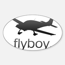 Flyboy Student/Private Pilot Sticker (Oval)