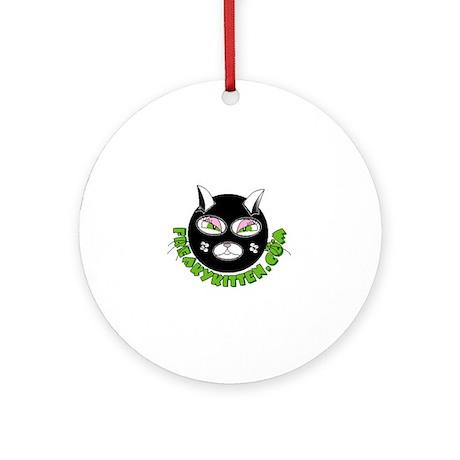 freaky kitten Ornament (Round)