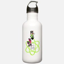 kat-atomic kitty with atom Water Bottle