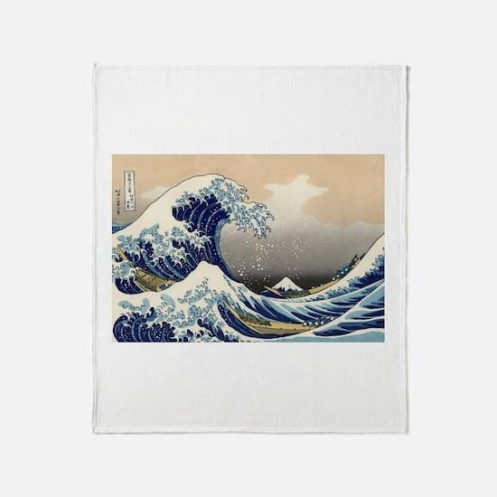 Cute Kanagawa Throw Blanket