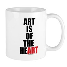 Art Is of the Heart (red) Mug