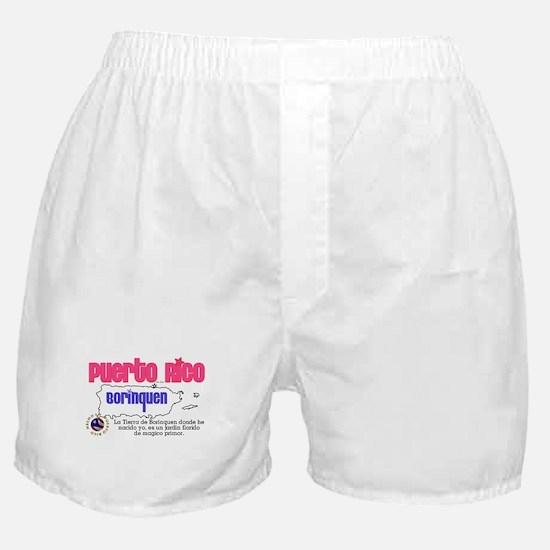 Puerto Rico es mi Borinquen Boxer Shorts